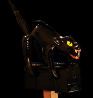 Halloween Inflatable Black Cat Mailbox Decoration