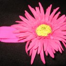 Large- New! Hot Pink Flower Headband