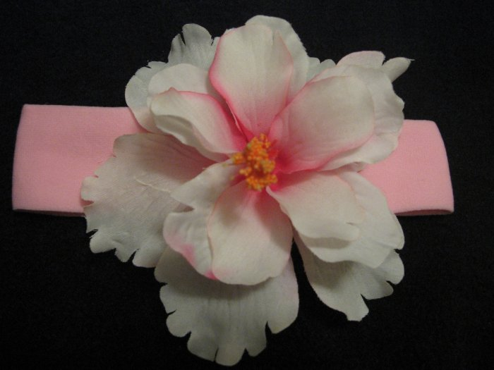 Clearance:  Pink and White Hawaiian Flower Headband