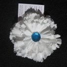 White Flower with blue gem