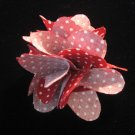 Red with white polka dot Handmade Flower