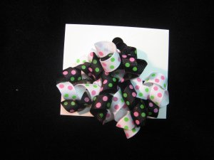 Black and White w/ Green and Pink Polka DotsKorker