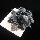 New! Black and White Polka Fot Handmade Flower
