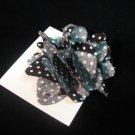 New! Black and White Polka Fot Handmade Flower