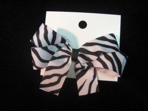 Zebra Print Hairbow