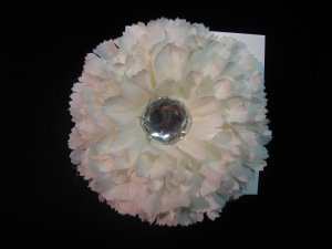Large White Flower w/ Large Crystal Gem