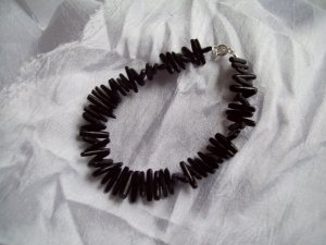 Black wood bead bracelet