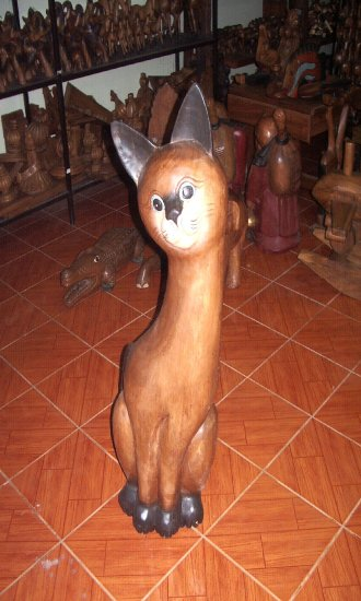 Wooden cat (price in euro)