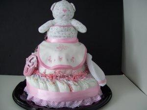 Diaper Cake Amy Coe Girls Teddy Bear Cake