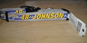 """Nascar Jimmie Jimmy Johnson Dog Collar L 18""""-26"""""""