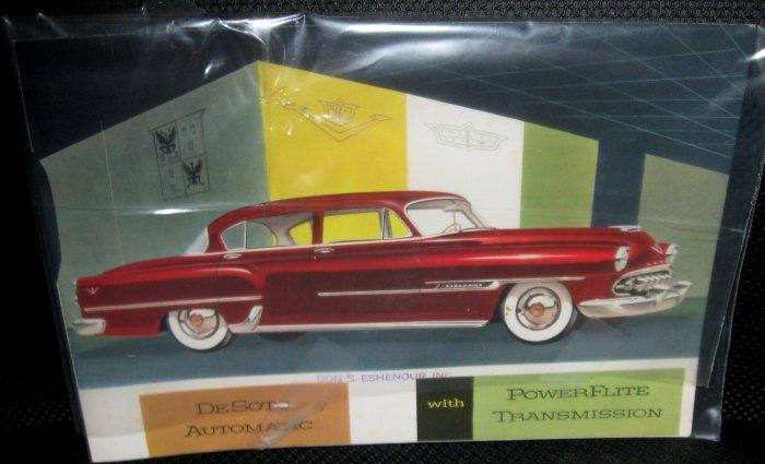 Vintage 1954 Chrysler DeSoto brochure