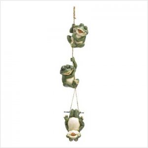 FROLICKING FROGS HANGING DECOR