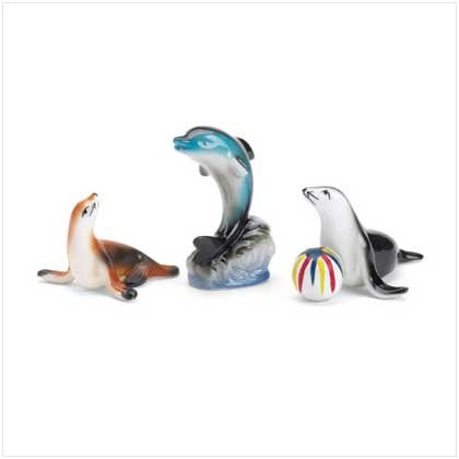 SET OF 3 SEA ANIMAL FIGURINES