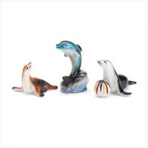 SET OF 3 SEA ANIMAL FIGURINES