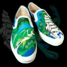 Custom Hand Painted Vans Shoes *Mens Sizes* /// Forbidden Seas by Yourkicks.com