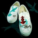 Custom Hand Painted Vans Shoes *Women Sizes* /// Haute Couture by Yourkicks.com