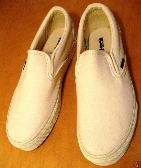 Plain White Slip On Shoes, like Vans, PICS! Mens sizes
