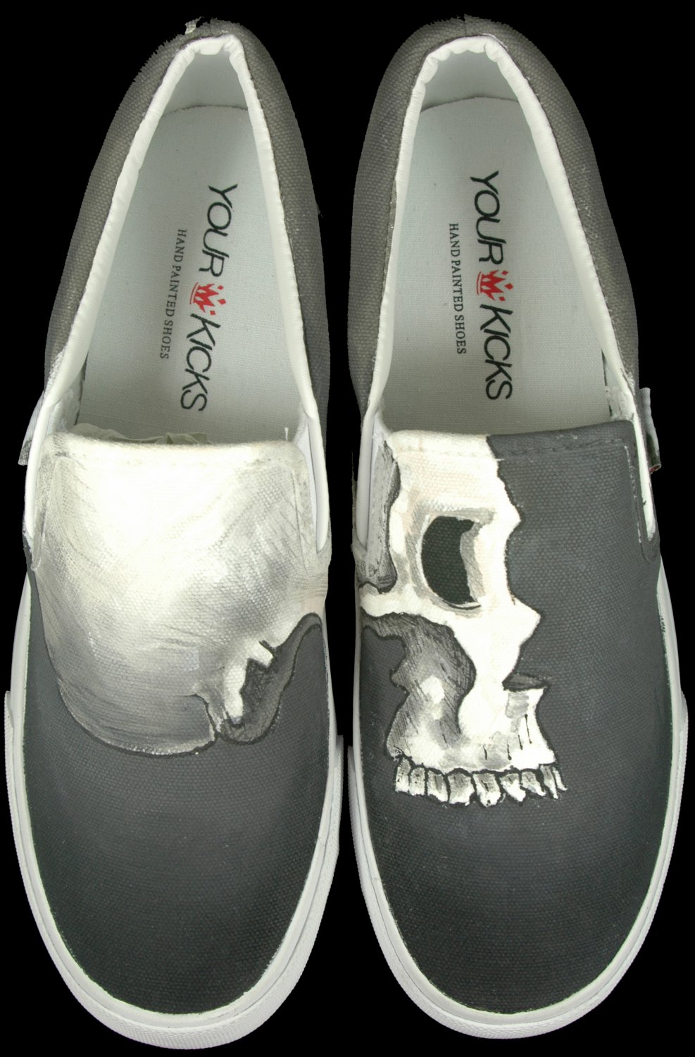 """Hand Painted Slip on Shoe Sneakers for Men - all sizes - """"The Hominid"""" Sneakers"""