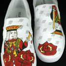 "Hand Painted Shoes : Custom Vans Slip-ons Sneakers For Men - ""The Victorious King"""