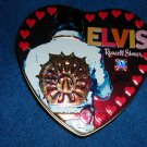 ELVIS PRESLEY HEART SHAPED CANDY TIN