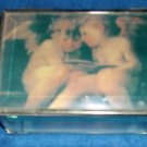 Glass Angel  Jewelry Box- FREE SHIPPING