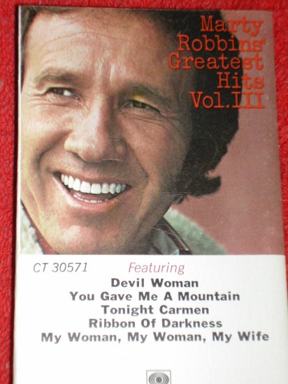 Marty Robbins Greates Hits Cassette- Free Shipping