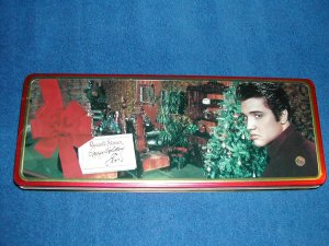 ELVIS PRESLEY CHRISTMAS TIN- FREE SHIPPING