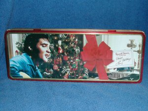 ELVIS PRESLEY CANDY TIN- FREE SHIPPING