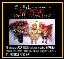 EXTREME DOLLMAKING ONLINE CLASS TUTORIAL CD BENDY DOLLS