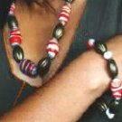 Red & White Necklace Set