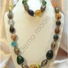 Multi Colored Necklace and Bracelet
