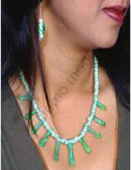 Green Necklace and matching earrings