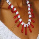 White and Red Necklace