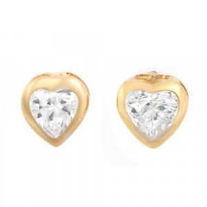 1.40ctw Cubic zirconia14K/925 Gold plated Silver