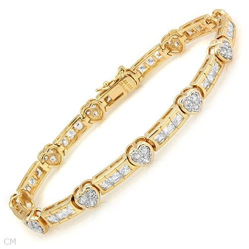Cubic zirconia in 14K/925 Gold plated Silver