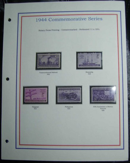 1944 USA MNH Stamps on page - Commemoratives E8616