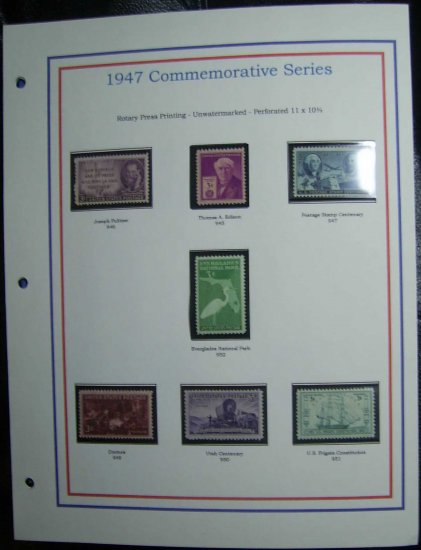 1947 USA MNH Stamps on page - Commemoratives E8616