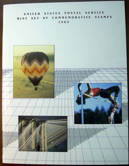 1983 USPS Commemorative Album with complete set of MNH stamps E0959,5186,6705
