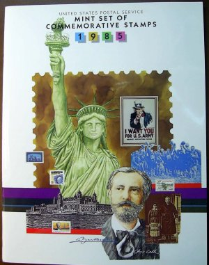 1985 USPS Commemorative Album with complete set of MNH stamps E5186