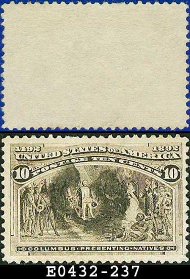 1893 USA USED Scott# 237 � 10c Columbus Presenting Natives