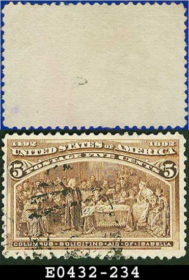 1893 USA USED Scott# 234 � 5c Soliciting Aid from Isabella