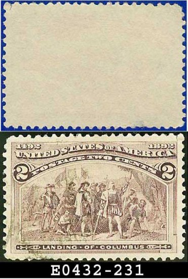 1893 USA USED Scott# 231 � 2c Landing of Columbus