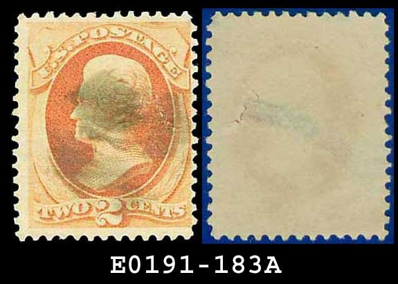 1879 USA USED Scott# 183 � 2c Jackson � Vermillion American Bank Note Printing