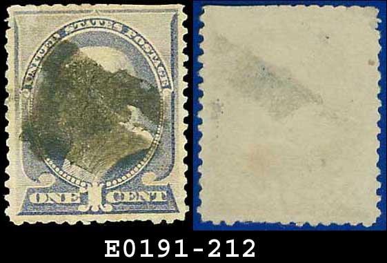 1887 USA USED Scott# 212 � 1c Franklin � Ultramarine