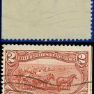 1898 USA USED Scott# 286 – 2c Farming in the West – Trans-Mississippi Series
