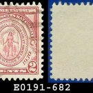 1930 USA USED Scott# 682 – 2c Seal of Massachusetts Bay Colony