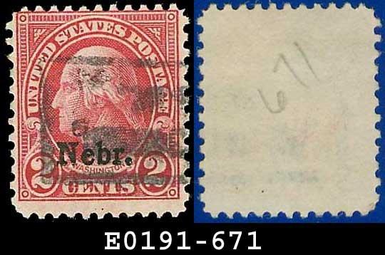 1929 USA USED Scott# 671 � 2c Nebraska Overprint