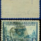 1928 USA USED Scott# 650 – 5c Globe and Airplane – Blue