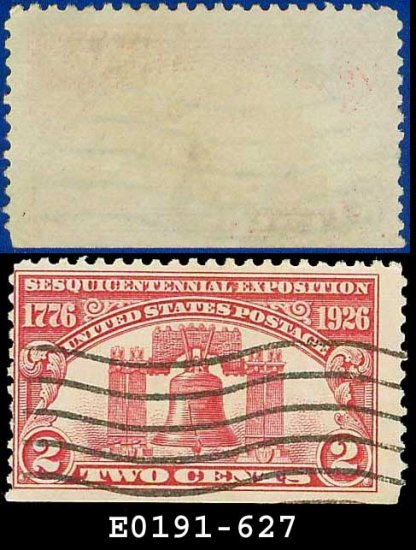 1926 USA USED Scott# 627 � 2c Liberty Bell � Sesquicentennial Expo