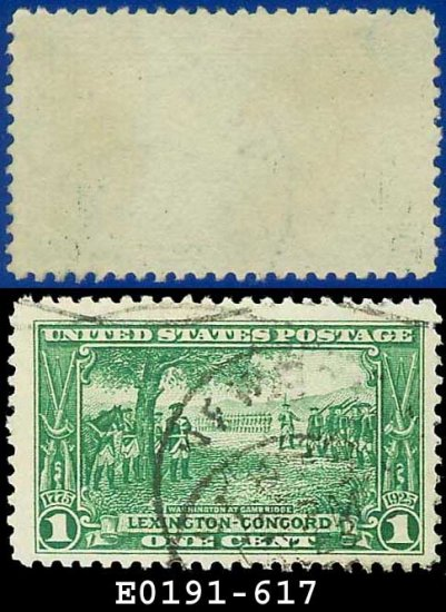 1925 USA USED Scott# 617 � 1c Washington at Cambridge � Lexington-Concord Issue
